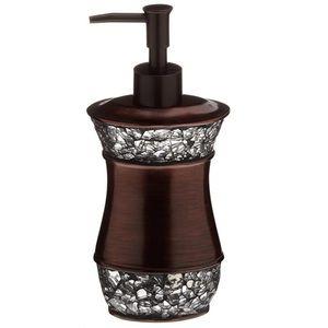 Elite Soap Lotion Dispenser Bronze Glass Crystal